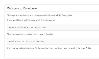 Tutorial CRUD Codeigniter 3 sederhana