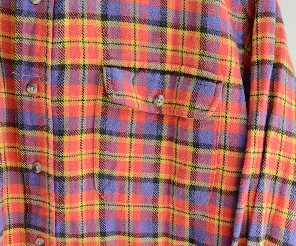 80sビンテージL.L.BeanアメリカUSA製ヘビーネルシャツ