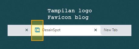 Gambar ikon blog pada browser
