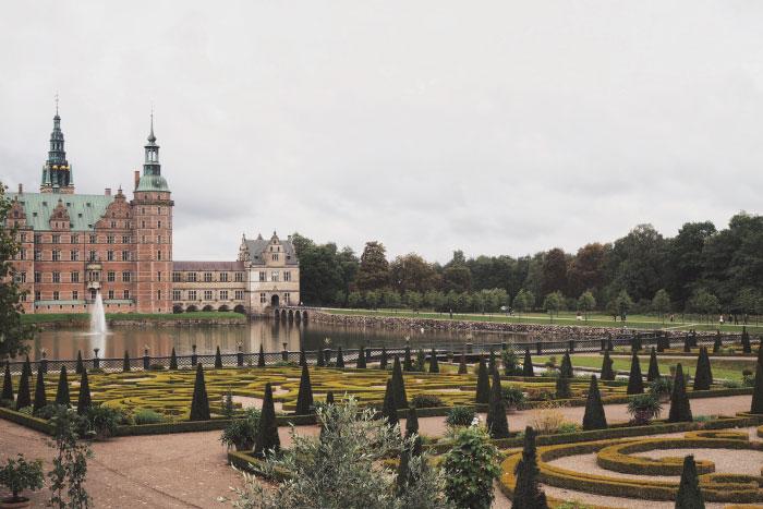 Jardins à la française du château de Frederiksborg au Danemark