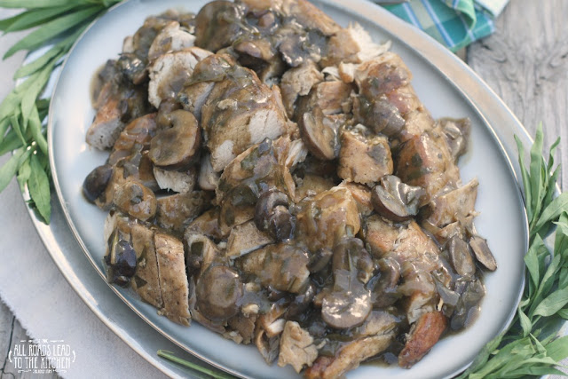 Turkey Tenderloins w/ Mushroom Tarragon Shallot Gravy