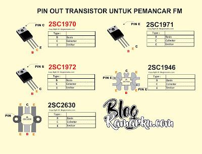 Transistor Untuk Pemancar fm data pin out yang umum di Pakai