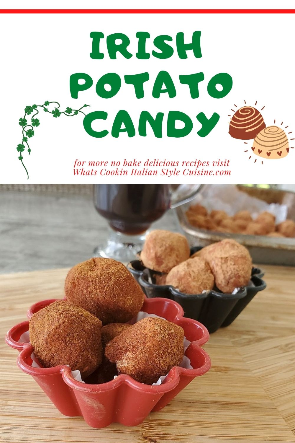 no bake Irish Potato Candy Pin for later