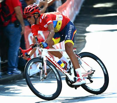 Alberto Contador during La Vuelta