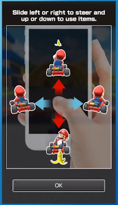 Mario Kart Tour control scheme one hand slide steer items