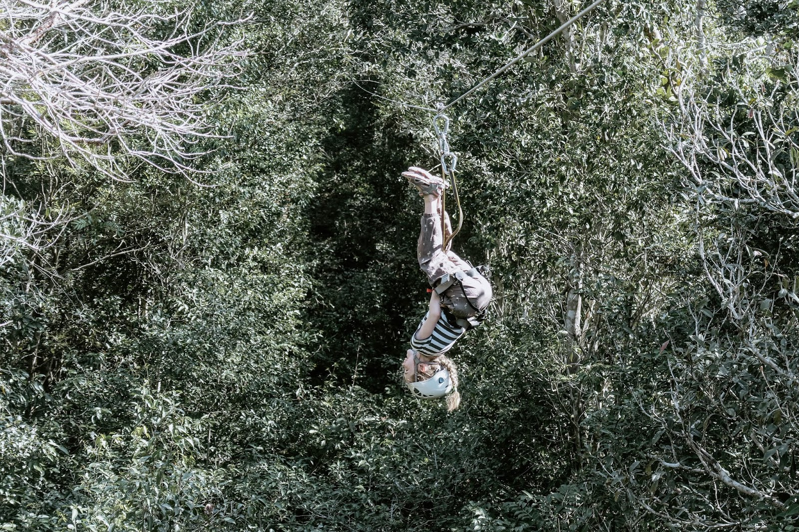 zipline upside down Mexico