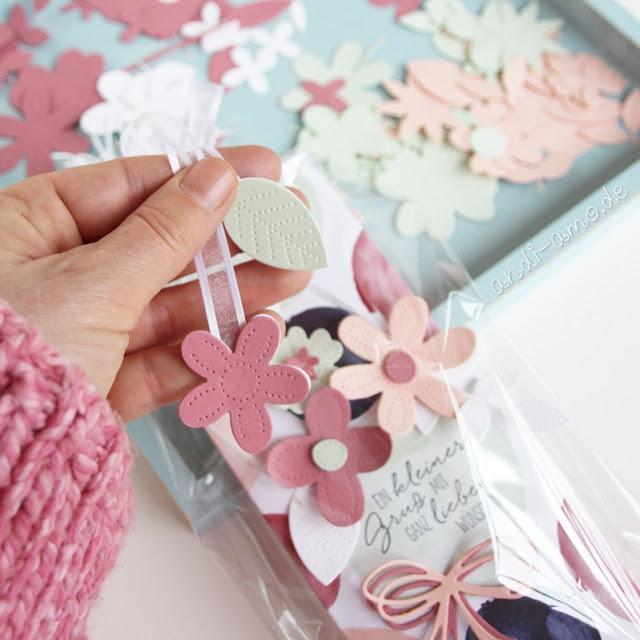 Stampin Up Verpackung mit Stanzformen Perforierte Blumen