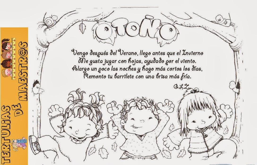 Dibujo De La Palabra Otoño Para Colorear Con Los Niños: ESOS LOCOS BAJITOS DE INFANTIL: DIBUJOS DE OTOÑO PARA COLOREAR