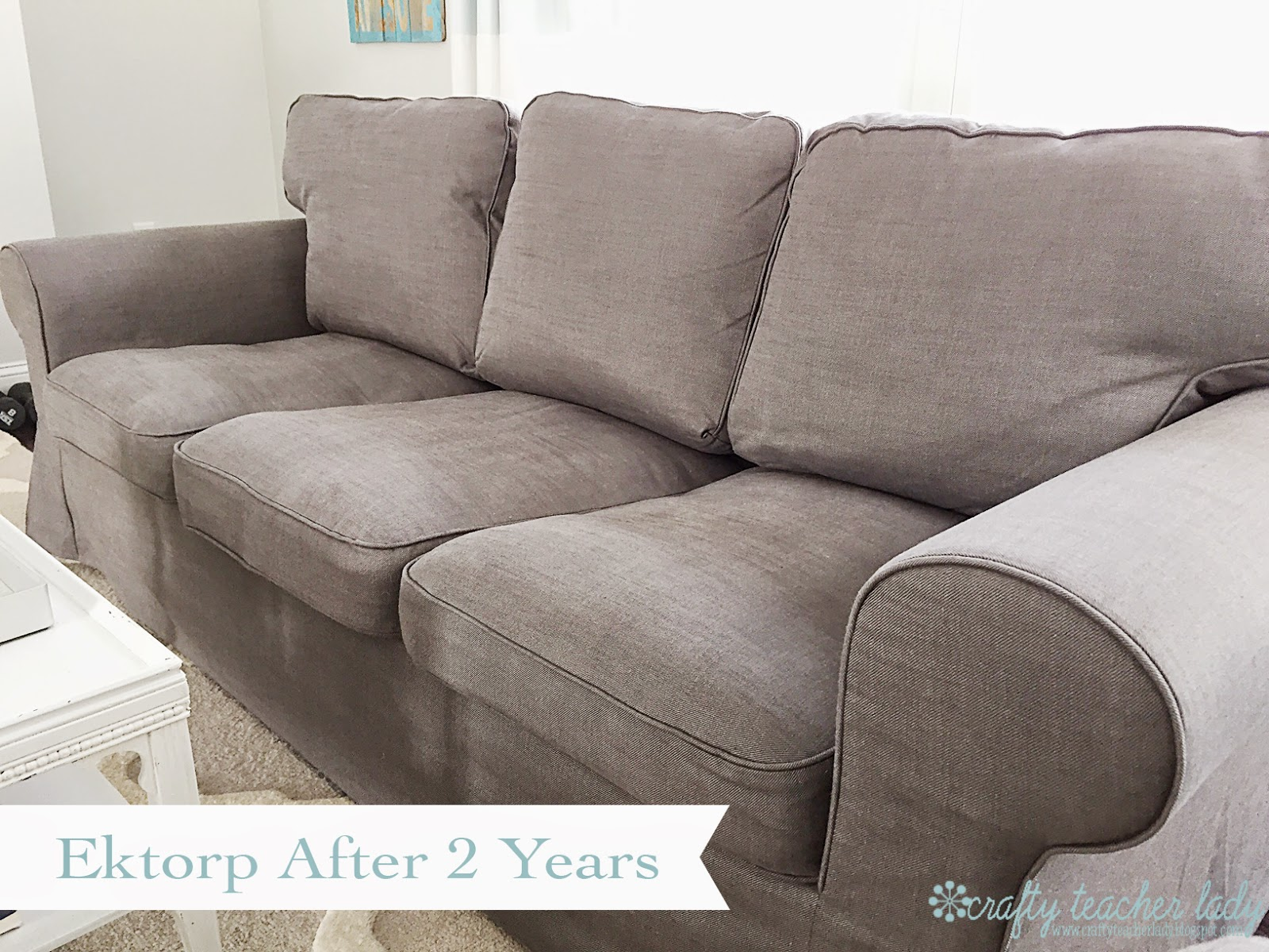 Sofa Cushion Support Reviews Chair And Slipcovers Crafty Teacher Lady Review Of The Ikea Ektorp Series