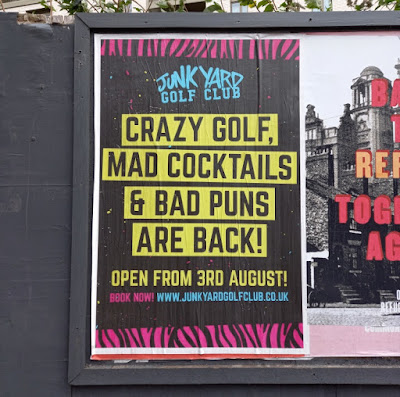 Junkyard Golf advertising in Manchester