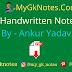 Polity Handwritten Notes PDF By - Ankur Yadav