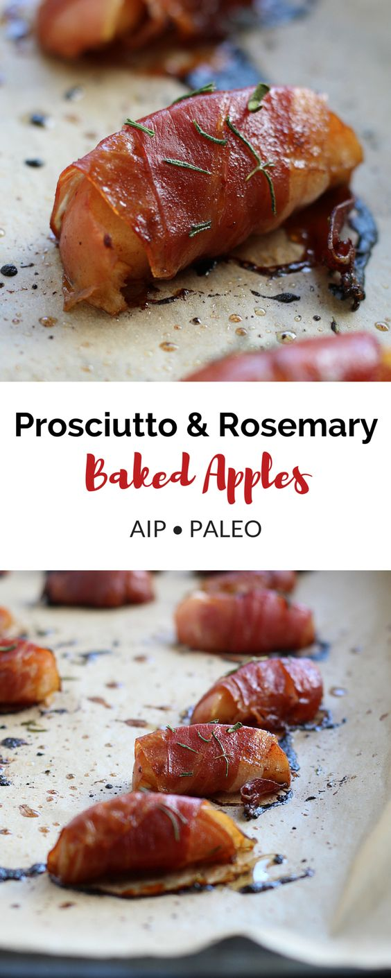 Prosciutto & Rosemary Baked Apples (AIP, Paleo) #appetizer #paleo #prosciutto #rosemary #baked #apple