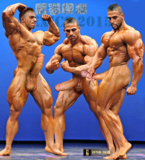 Body builder cock hard