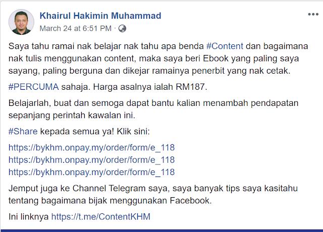 118 Idea Menulis Content (Khairul Hakimin Muhammad)