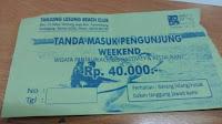 Tiket Masuk Tanjung Lesung Resorts Club