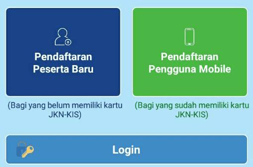 Halaman utama aplikasi JKN-KIS