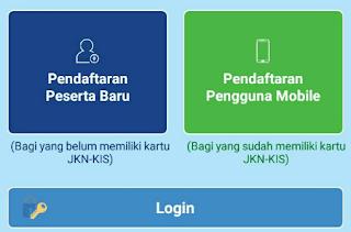 Halaman muka aplikasi JKN-KIS