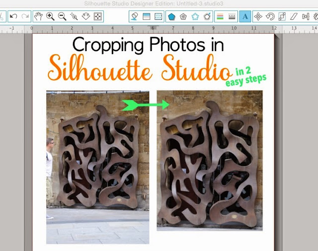 Silhouette Studio, cropping photos, Silhouette tutorial