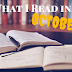 What I Read in October (featuring the worst book I've ever read)