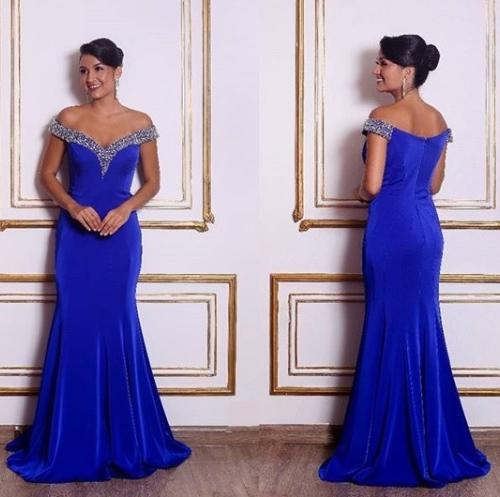 vestido azul royal bic
