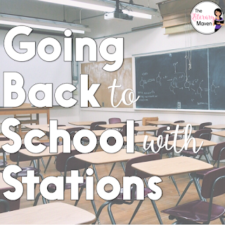 Use stations to set a tone of active learning and get students up and moving on the first day of school. Here's a look at my six stations, some of which included group tasks while others included independent tasks.