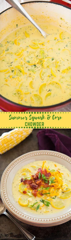 Summer Squash and Corn Chowder #vegan #vegetables #dinner #salad #summer