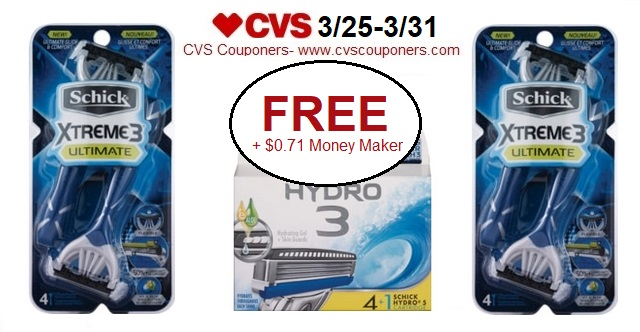 http://www.cvscouponers.com/2018/03/free-071-money-maker-for-schick-hydro-3.html