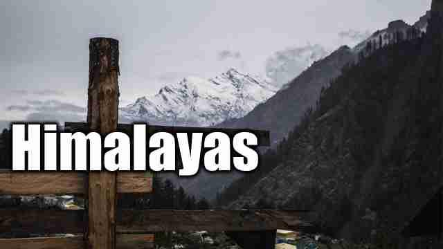 Image of himalaya used for essay on Himalayas.