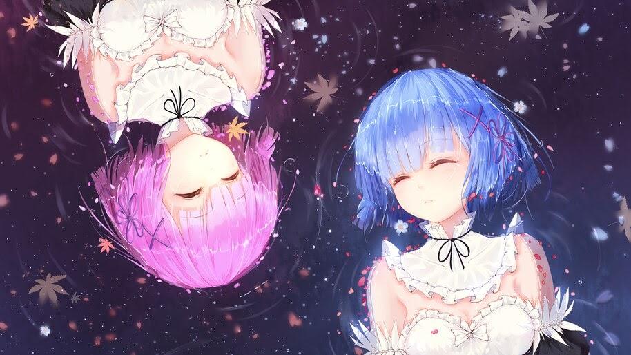 Anime, Girls, Sleeping, Rem, Ram, Re:Zero, Maid, 4K, #4.2719