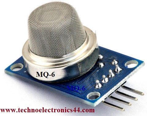 MQ6-Gas Sensor | Code | Circuit | Pin configuration