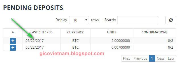 Chuyển Bitcoin lên sàn bittrex
