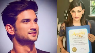 California Assembly Honored Sushant Singh Rajput For Contribution to cinema and Society