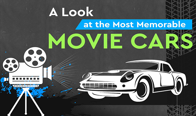 A look at the most beautiful movie cars #infographic