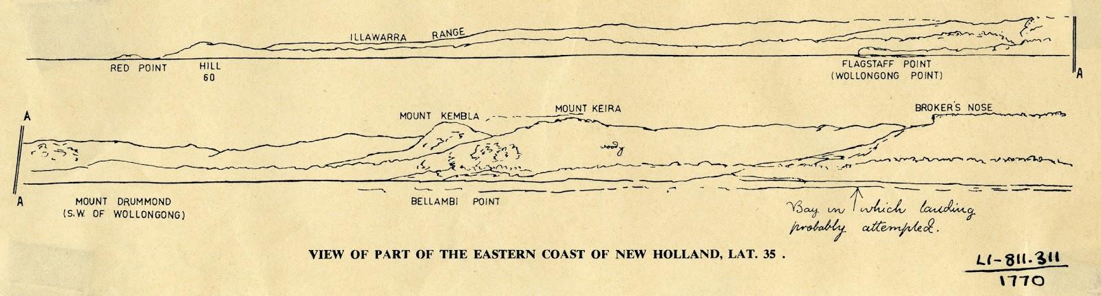 Captain Cook At Woonona 28 April 1770