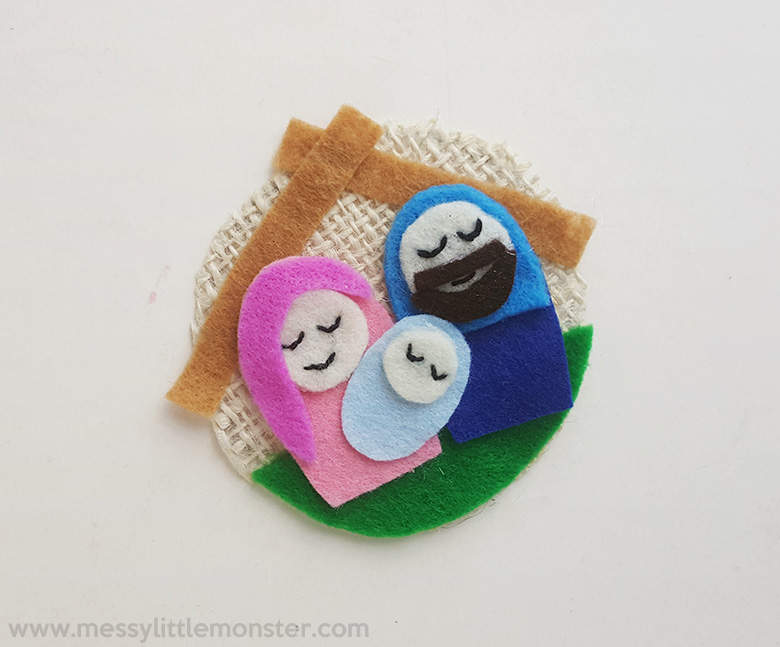 easy sewing projects. nativity ornaments.