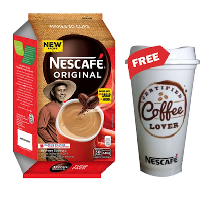 NESCAFE Original 3-in-1 Coffee 28g - Pack of 30 with Free Nescafe Tumbler