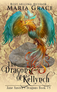 Book cover: Dragons of Kellynch by Maria Grace