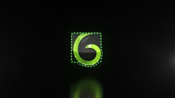 Videohive - Glitchy Neon Logo Reveal 25167954