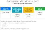 LINK BANTUAN KUOTA INTERNET GRATIS MARET 2021 DARI PEMERINTAH