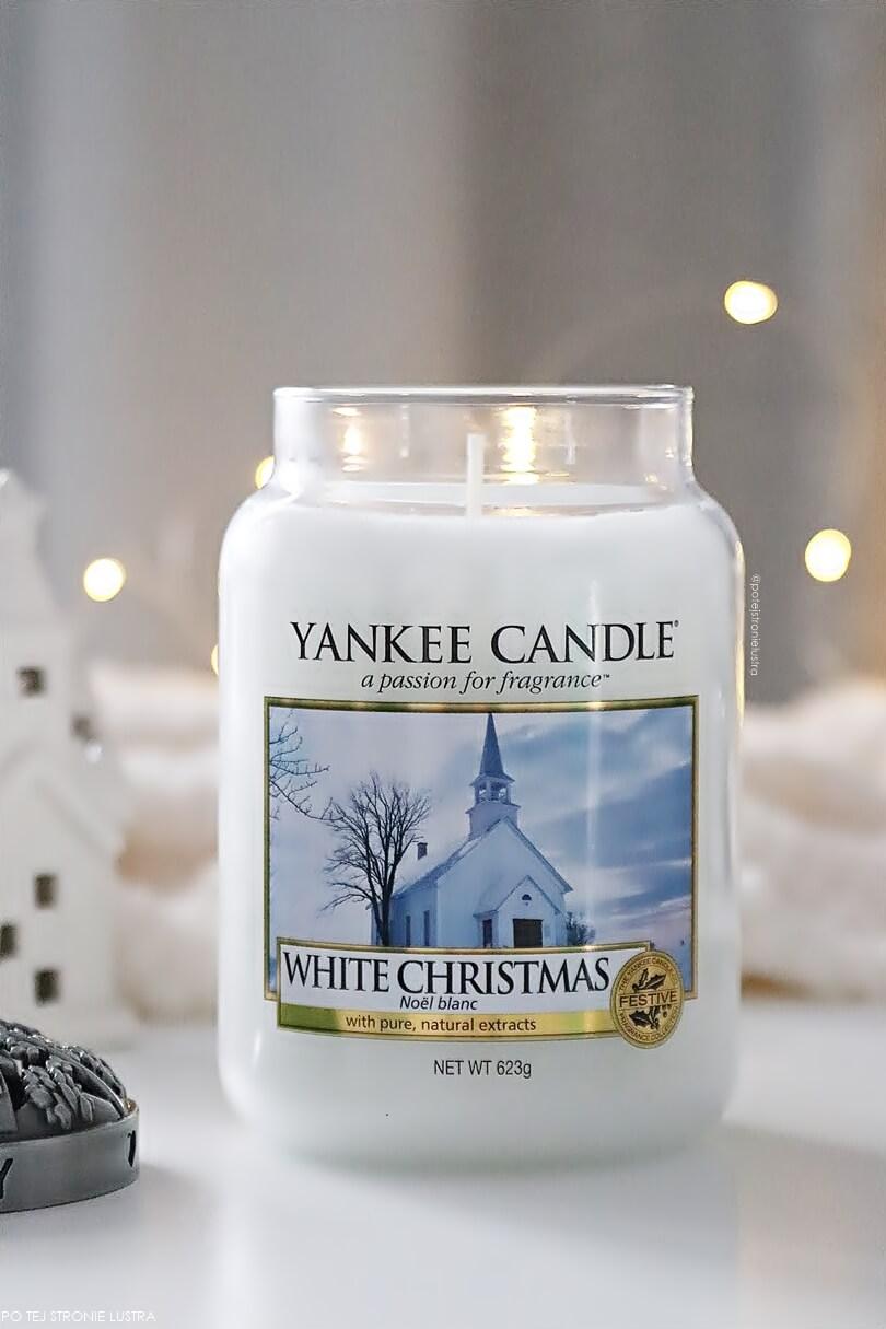 yankee candle white christmas świeca zapachowa