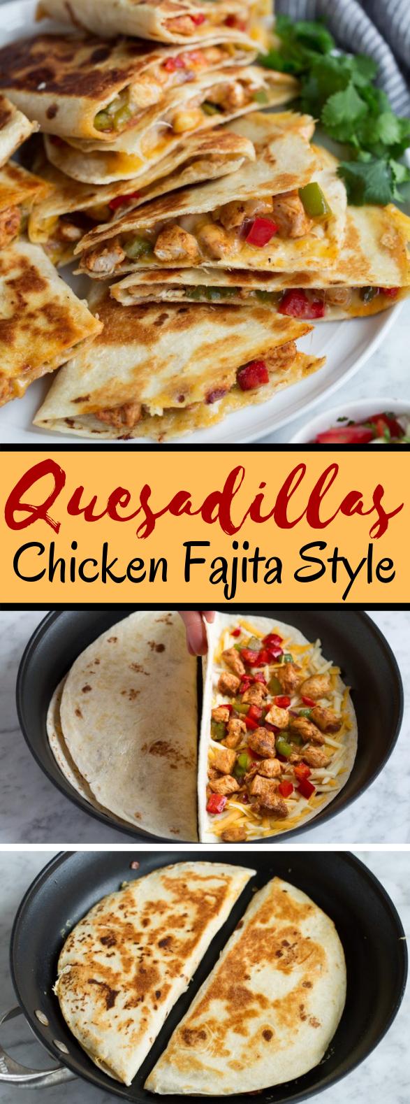 Quesadillas {Chicken Fajita Style} #dinner #mexican