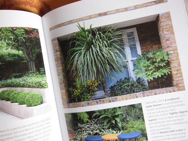 Photo of a photo of plants on a balcony in book 'Urban Flowers' by Carolyn Dunster and Jason Ingram