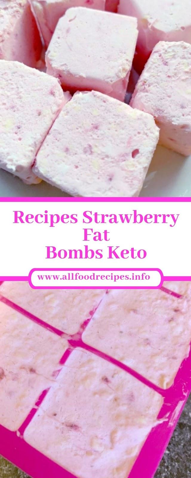 Recipes Strawberry Fat Bombs Keto
