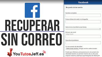 Recuperar Contraseña de Facebook Sin Correo, Sin Teléfono y Sin Contraseña desde Teléfono