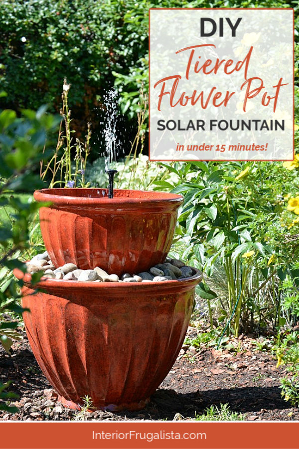 DIY Tiered Flower Pot Solar Fountain in under 15 minutes!