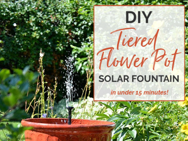 Solar Plant Pot Water Fountain In Under 15 Minutes