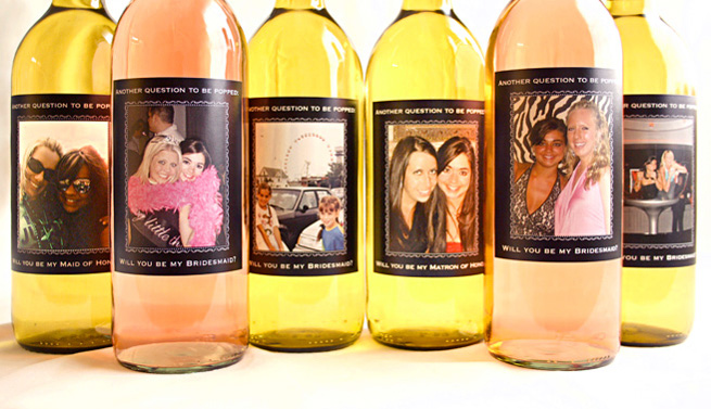 Corin Bakes: DIY Wine Labels: Will You Be My Bridesmaid?