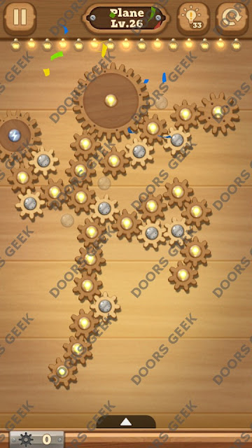 Fix it: Gear Puzzle [Plane] Level 26 Solution, Cheats, Walkthrough for Android, iPhone, iPad and iPod