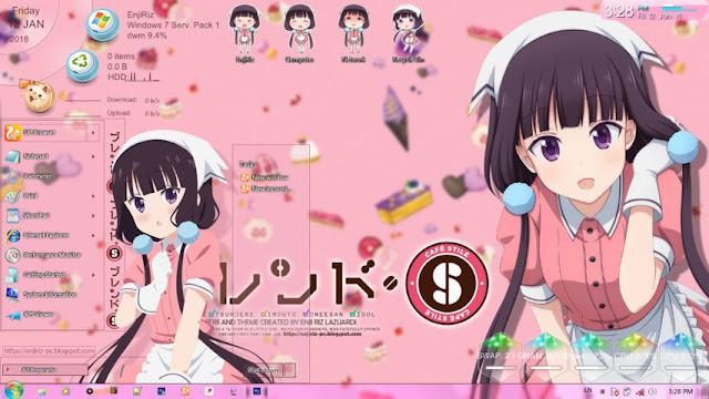 Blend S - Sakuranomiya Maika Theme Win 7 by Enji Riz Lazuardi