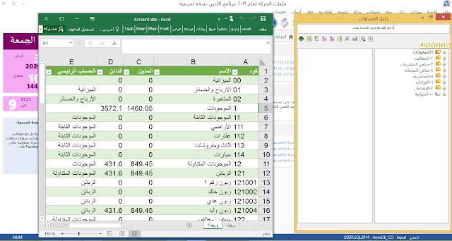 ربط برنامج الامين للمحاسبة والمستودعات باكسل المستوى 1(udemy)